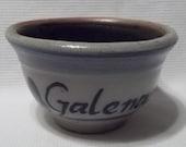 Vintage Rowe Pottery Work Small Crock Bowl Salt Glazed Galena Illinois Primitive Farmhouse Country Decor Folk Art Collectible