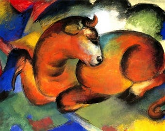 """Placemat laminated Franz Marc """"Red Bull"""""""