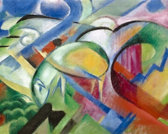 Placemat laminated Franz Marc 'The sheep'
