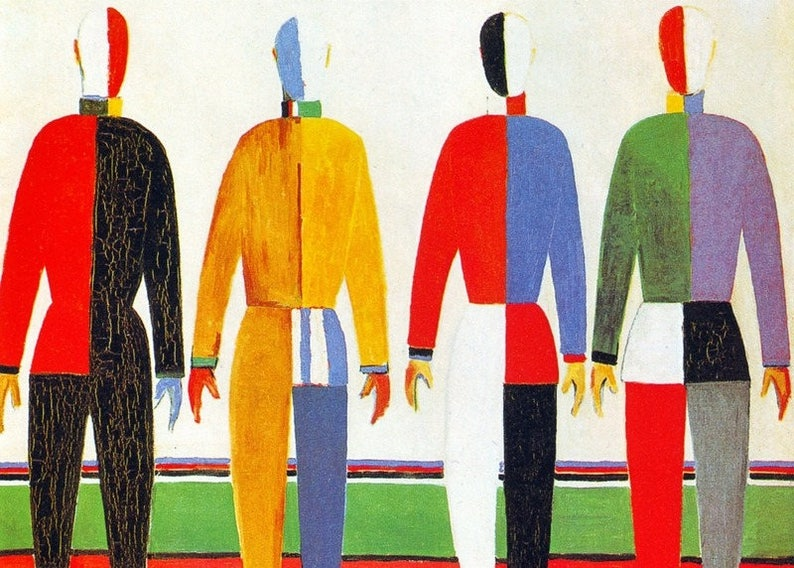 Laminated placemat Malevich The Sportsmen image 0