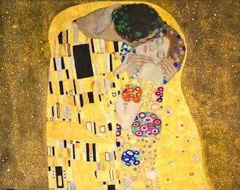 """Original plastic placemat Klimt """"The Kiss"""""""