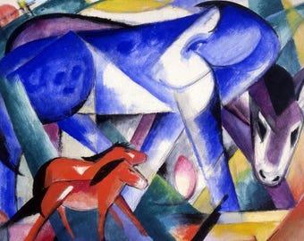 "Placemat laminated Franz Marc ""Blue horse"""