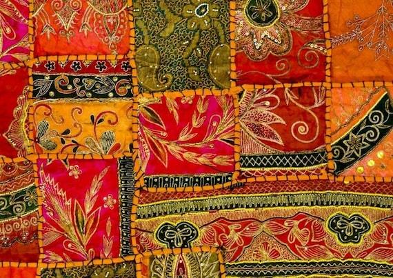 set de table plastifi motif tissu indien. Black Bedroom Furniture Sets. Home Design Ideas
