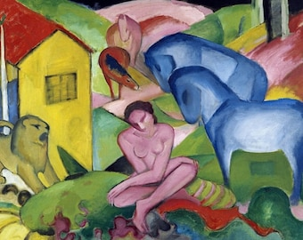 Placemat laminated Franz Marc 'The dream'