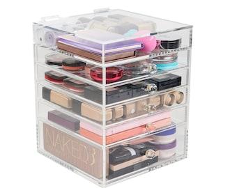 Clear Acrylic Makeup Organizer Beauty Cube