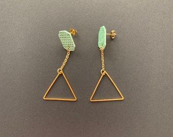 ArtGeometry Minty earrings