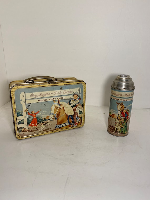 1953 Roy Rogers Metal Lunchbox with Thermos