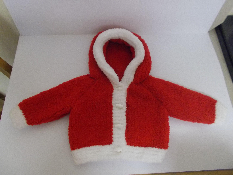 b35031b36839 Hand Knit Baby Jacket Baby Hoodie Christmas Baby Gift