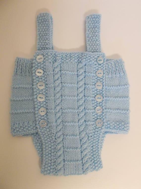 Barboteuse bébé en tricot, bébé reborn, tricot à la main, détail de câble, cadeau de shower de bébé, nouveau cadeau de bébé, fait à la main à la main, un cadeau, tricotés à la main, vêtements bébé