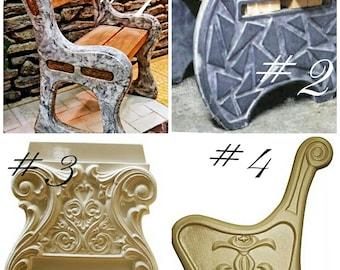 Concrete Bench Leg Molds Slip Casting Molds & Kits Sculpting, Molding & Ceramics