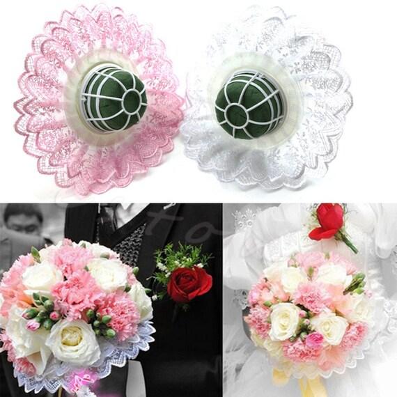 Wedding Bride Bridal Flower Handle wor DIY Bouquet Holder With | Etsy