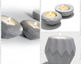 Chandelier Moule silicone moules béton bougie porte trois forme de décorations pour la maison ciment vie fournitures moule de ciment
