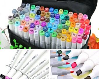 168 Colors Set Artist Dual Head Sketch Markers Set School Drawing Sketch Twin Marker Pen Design Broad Fine Points Touchnew Copic alternative