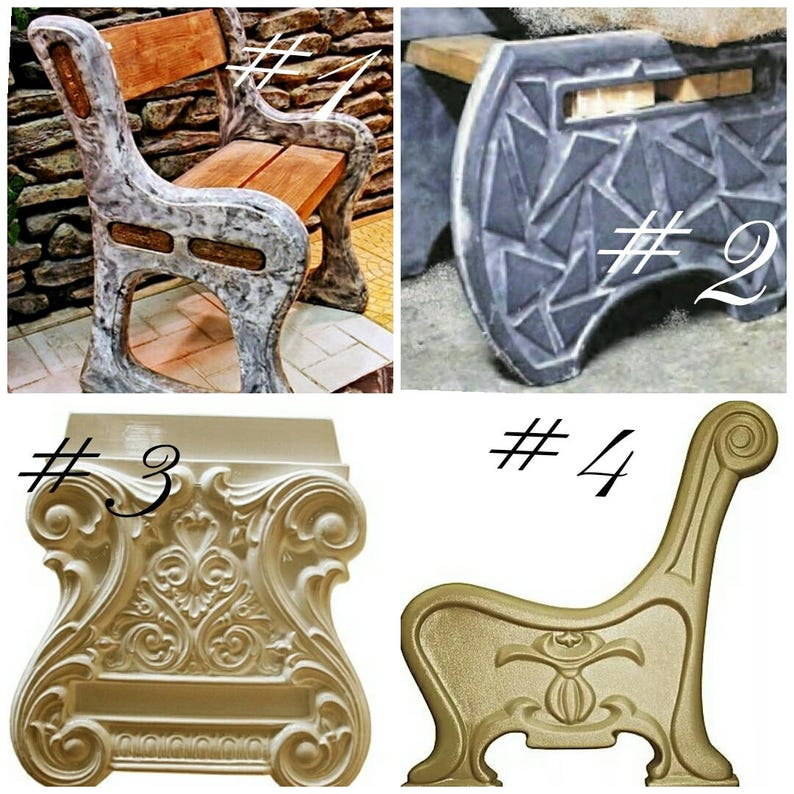 Phenomenal Bench Legs Plastic Molds For Dig Concrete Cement Benches Garden Plaster Stone Tiles Hard Abs Plastic Decor Garden Inzonedesignstudio Interior Chair Design Inzonedesignstudiocom