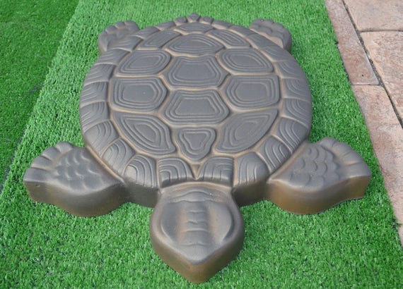 Turtle Stepping Stone Mold Concrete Cement Mould ABS Tortoise | Etsy