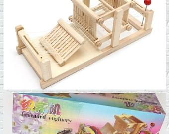 Wooden Table Weaving Loom Machine Model Hand Craft for kids Gift For Children Adult