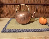Vintage Chinese Copper Brass Engraved Tea Pot Tea Kettle