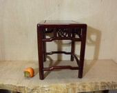 Vintage Chinese Rosewood Stool Display Plant Stand 14 Inches Tall
