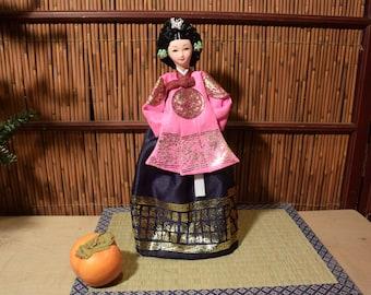 Vintage Korean Doll 13 Inches Tall