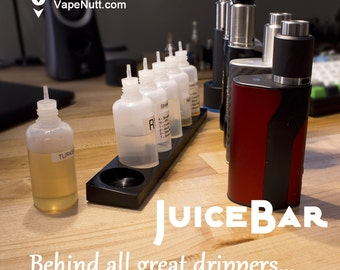 E-Juice Stand JuiceBar 6 with 30ml Bottles / Vape Stand / Holder - VapeNutt JB6 - Vape On!