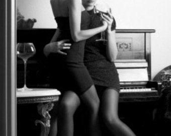 Black and white erotic photo