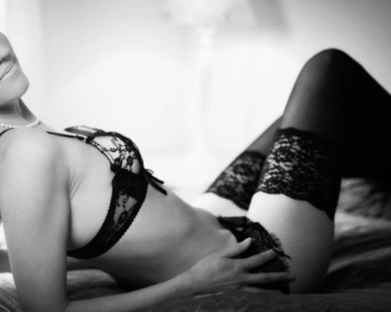 9cf7633cf Lingerie Lady Print Of A Girl In Sexy Lingerie. Black And