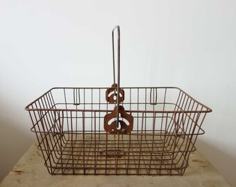Vintage French Bicycle Basket - Vintage Wire Basket - Bike Basket - Bike Bag - French Vintage Basket - Panier - Bike Accessory - Bike Gift