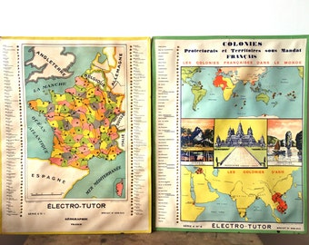 Vintage French Map or Wall Art