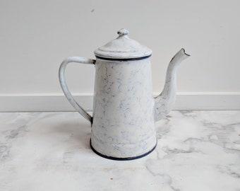 French Enamelware - Vintage Enamelware - French Enamel - French Pitcher - Vintage Pitcher - French Coffee Pot - Enamel Coffee Pot