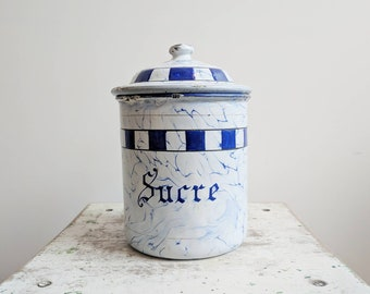 Vintage French Sugar Container, for French Farmhouse Style