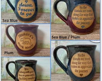 Custom Handmade Personalized Mug / 10, 12, 16 Fl Oz  - Custom mug, personalized with Phrase/words Made to Order