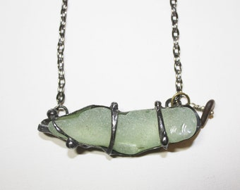 Vintage Coca cola bottle fragment NYC seaglass One of a kind wearable art by Past Objects Art