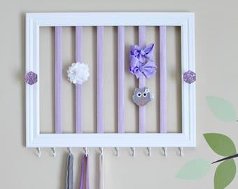Headband & hair clip holder - Lavender
