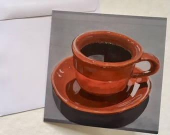 Orange Coffee Cup Card