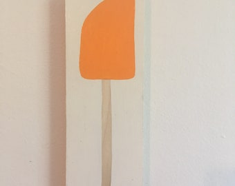 Orange Spatula Painting