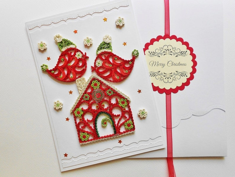 Quilling Christmas Card Christmas Ornament Ornament House