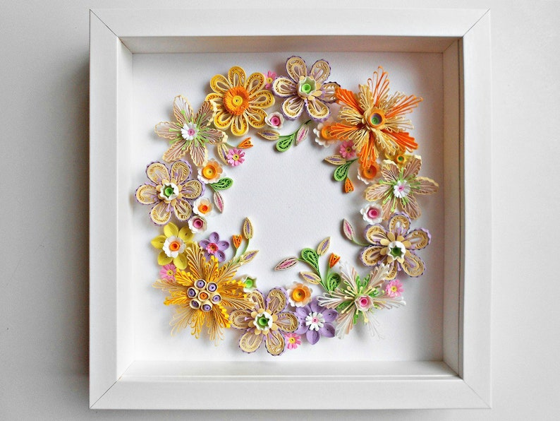 Quilling Wall Art Quilled Flower Paper Flower Wall Hanging
