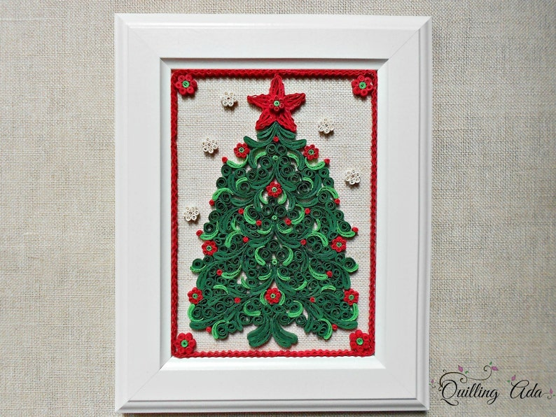 Quilled Christmas Tree Wall Art Paper Christmas Tree Holiday Tree