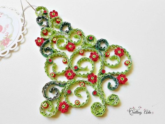 Quilled Christmas Ornament Christmas Tree Ornament Tree Quilling Paper Paper Ornament