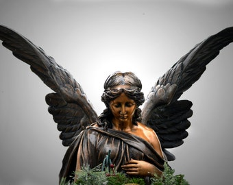 Wings; Angel Statue; Angel in the Rain; Fine Art Photography Custom Orders Available