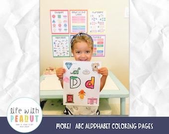 MORE!! ABC Alphabet Coloring Pages, Preschool Activity, Kindergarten Activity, Homeschool, Distance Learning, Tot School, Letter of the Week