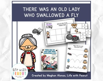 There was an Old Lady who Swallowed a Fly - Literature Based Activities for Preschool, Kindergarten, Homeschool, Literacy Centers