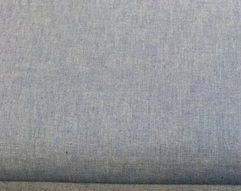 Ella Blue Fabrics - Gertrude Made Essentials -  58 Inch Denim Light Blue light weight cotton woven fabric