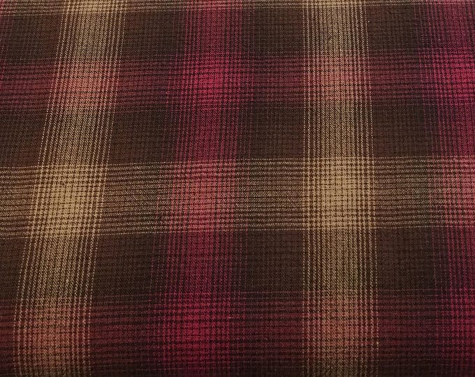 New Gertrude Made Essentials Yarn Dyed Check Red (more like fuchsia) plaid Cotton Woven Fabric by Ella Blue Fabrics
