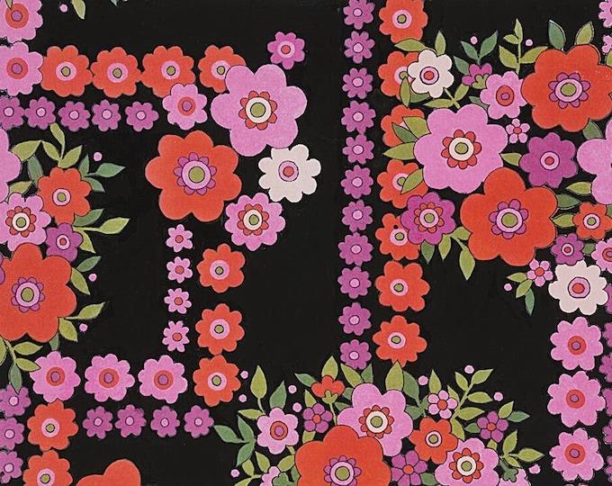 Alexander Henry Fabrics - The Ghastlies - Bouguet-8789D Black  - Cotton Woven Fabric