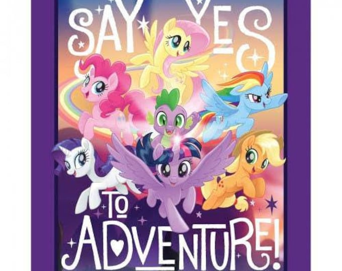 """Springs Creative - Licensed - My Little Pony Adventure 36"""" Panel Cotton Woven Fabric"""