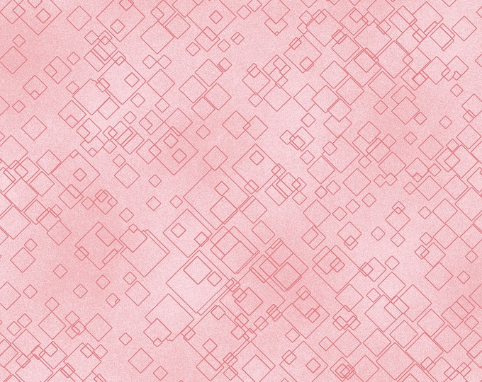 Benartex Fabrics - Cat-I-Tude 2 Purrfect Together by Ann Lauer -   Tonal Square - Light Pink -    7549B-01 Cotton Woven Fabric