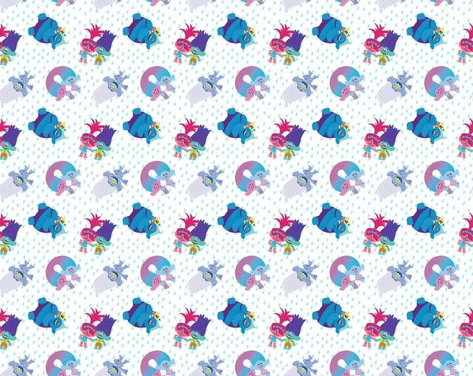 Springs Creative - Licensed Dreamworks Troll Friends cotton woven fabric