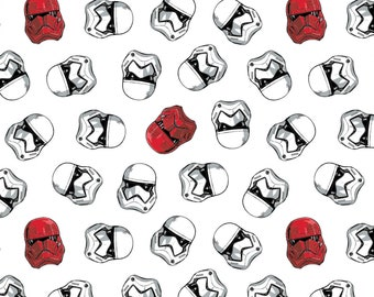 Camelot Fabrics - Licensed Star Wars - Storm & Sith Troopers White# 73090222-1 - Cotton Woven Fabric