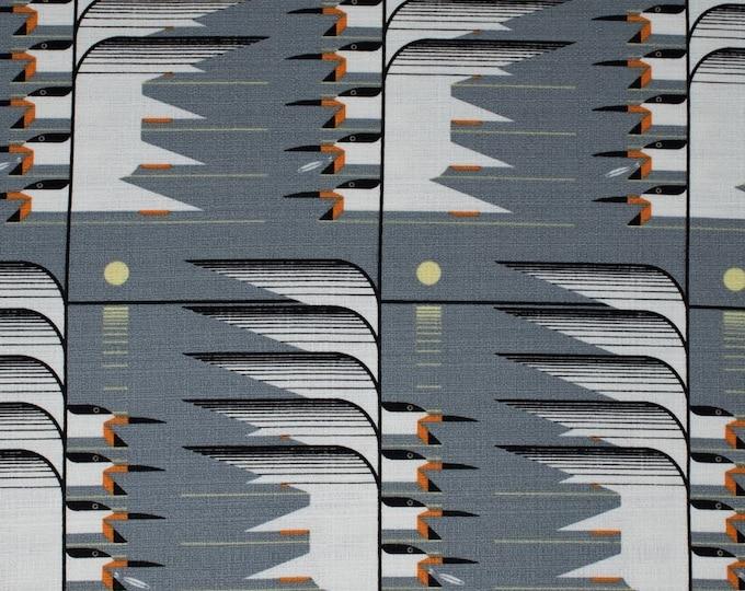 Birch Organic Fabrics - Charley Harper Barkcloth - Skimmerscape - Organic Cotton Barkcloth